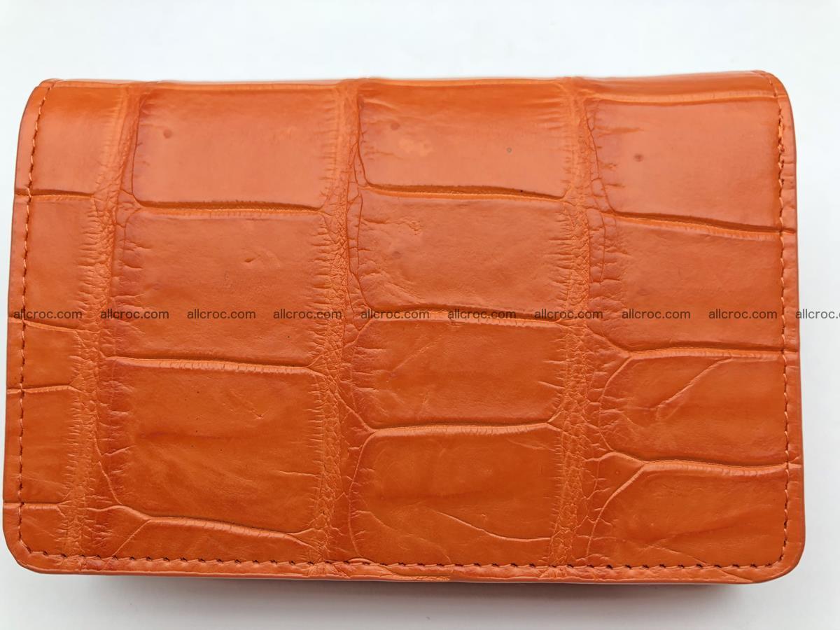 Siamese crocodile skin wallet for women belly part, trifold medium size 436 Foto 0
