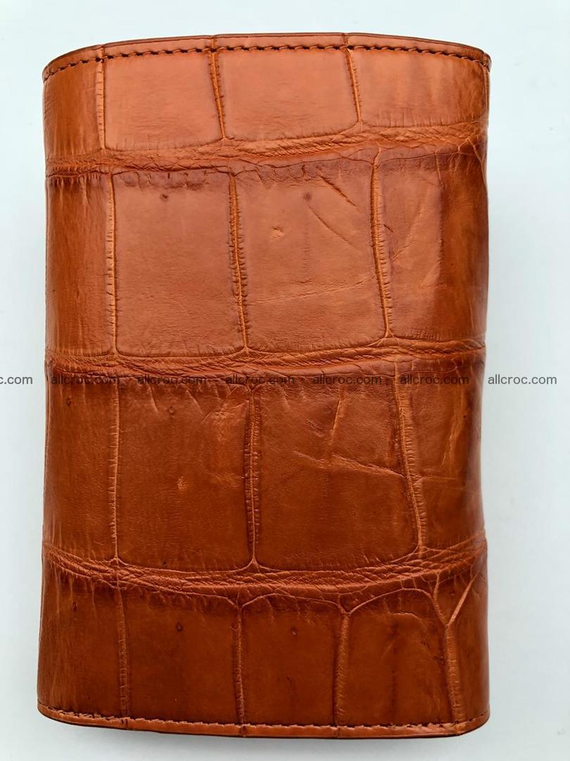 Siamese crocodile skin wallet for women belly part, trifold medium size 436 Foto 3