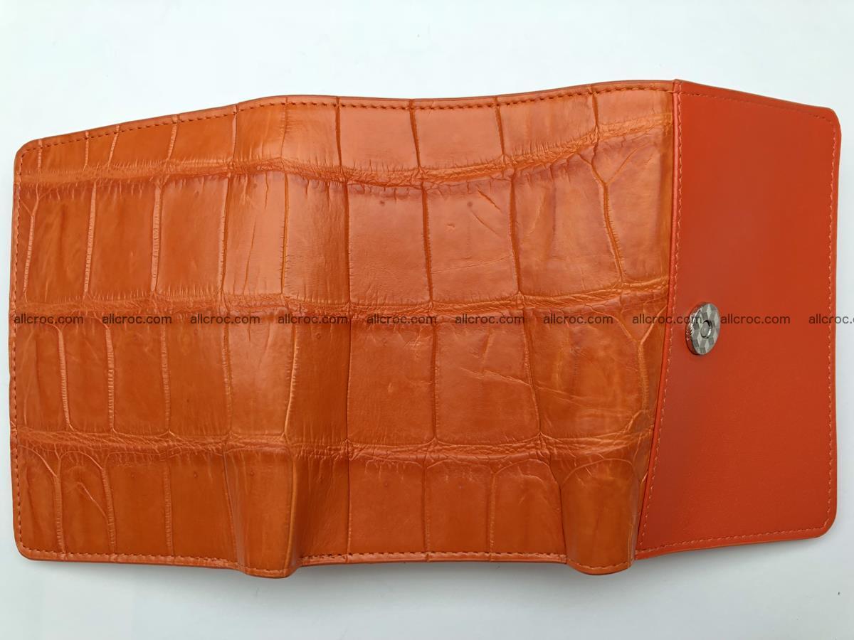 Siamese crocodile skin wallet for women belly part, trifold medium size 436 Foto 9