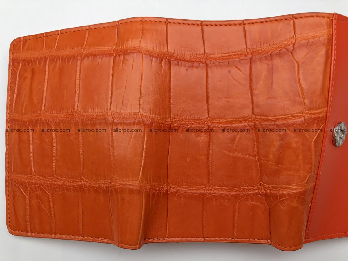 Siamese crocodile skin wallet for women belly part, trifold medium size 436 Foto 10
