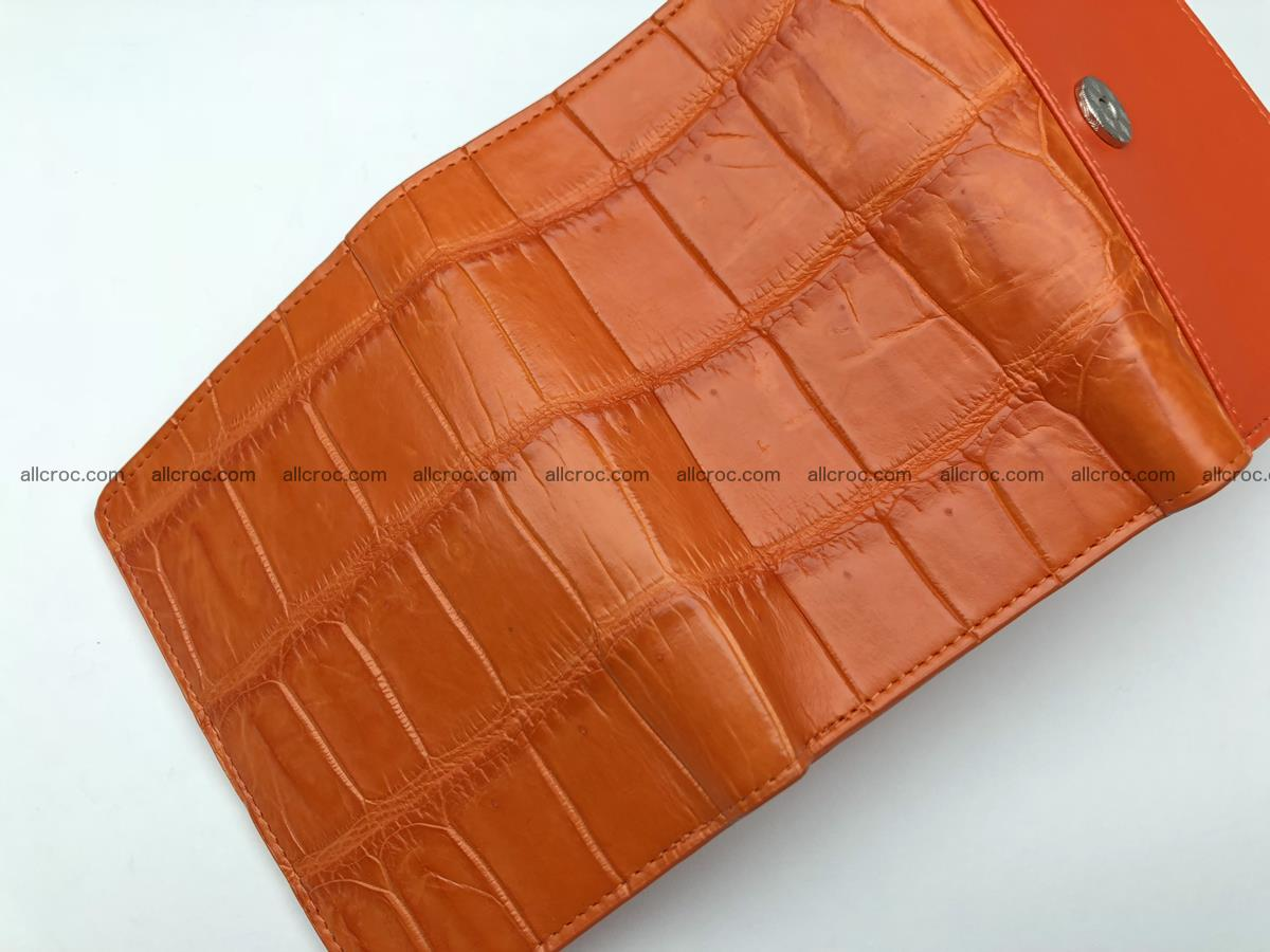 Siamese crocodile skin wallet for women belly part, trifold medium size 436 Foto 11