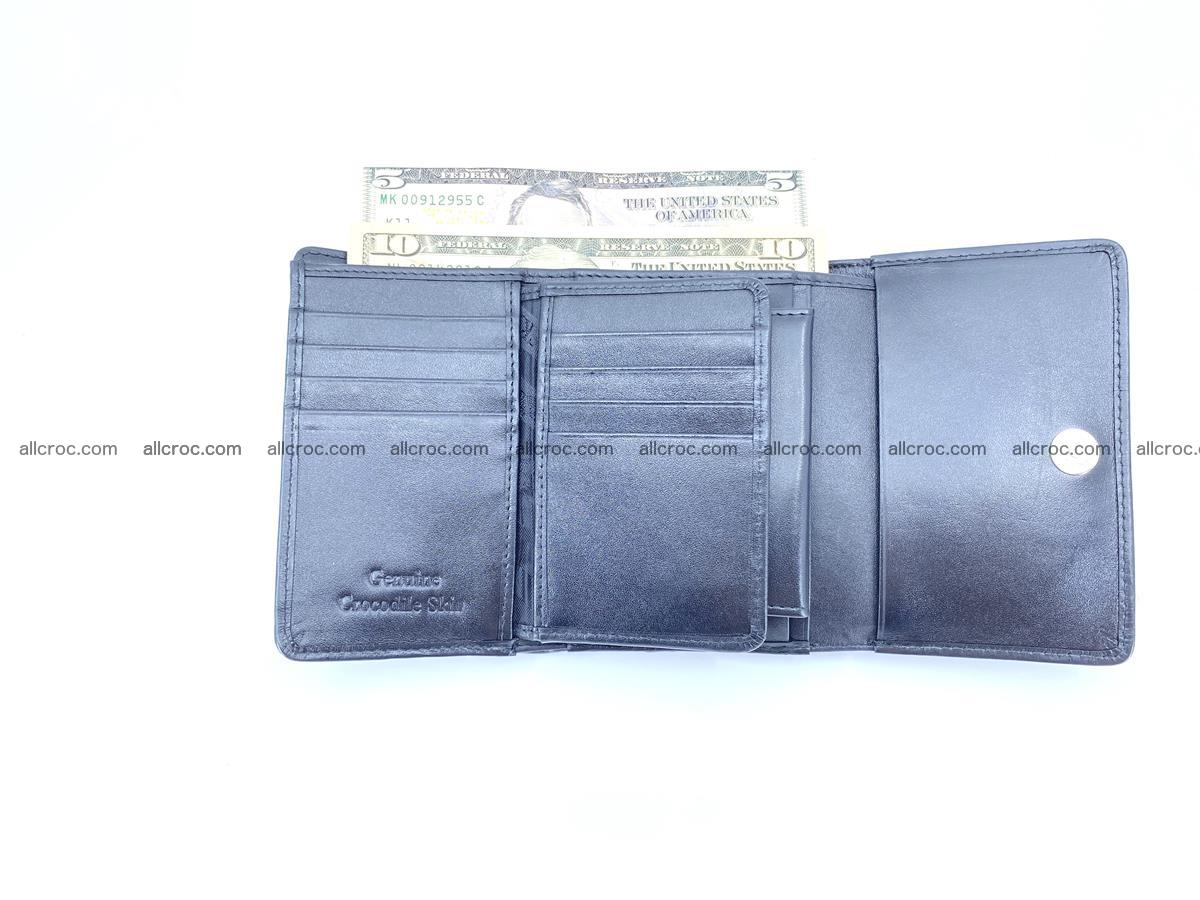 Siamese crocodile skin wallet for women belly part, trifold medium size 445 Foto 10