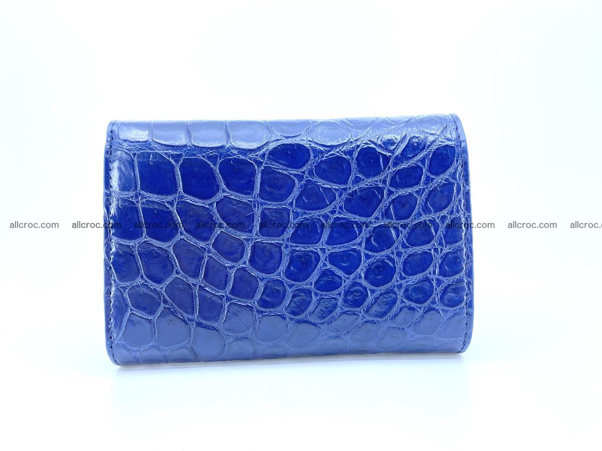 Siamese crocodile skin wallet for women belly part, trifold medium size 444 Foto 1