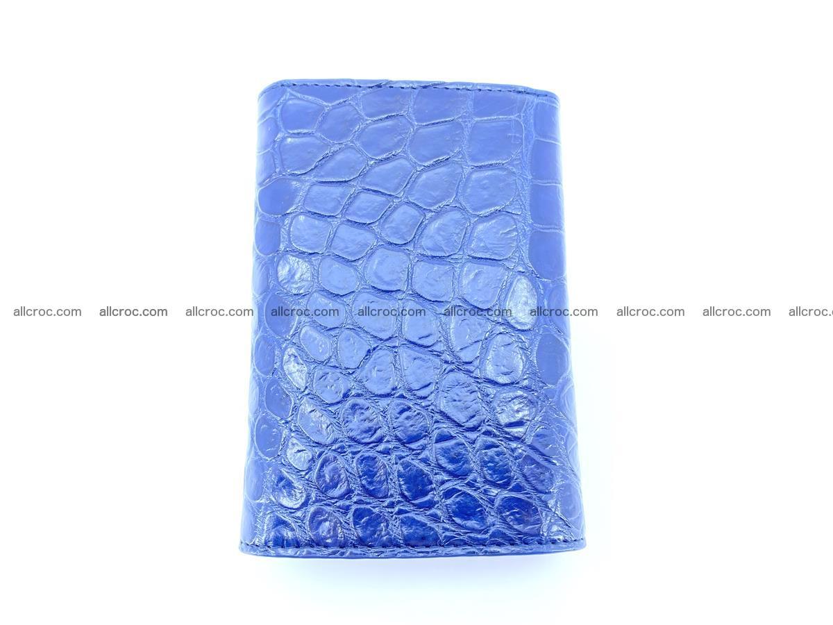 Siamese crocodile skin wallet for women belly part, trifold medium size 444 Foto 3