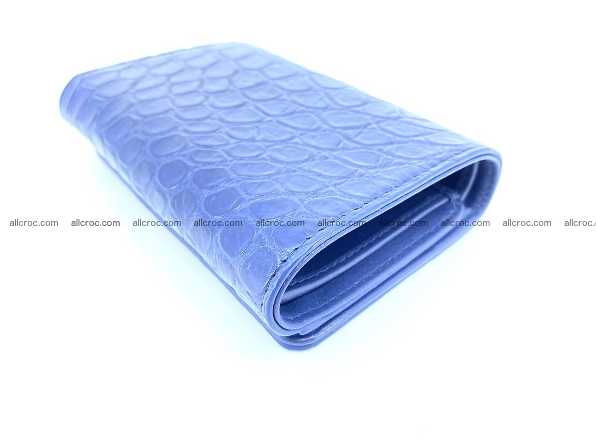 Siamese crocodile skin wallet for women belly part, trifold medium size 444 Foto 5