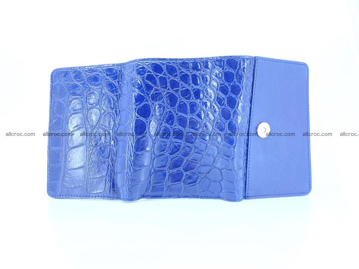 Siamese crocodile skin wallet for women belly part, trifold medium size 444 Foto 11