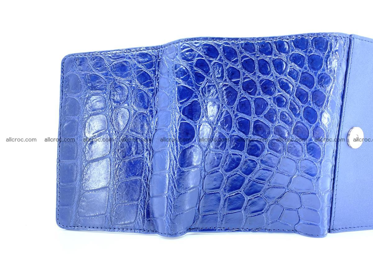 Siamese crocodile skin wallet for women belly part, trifold medium size 444 Foto 10