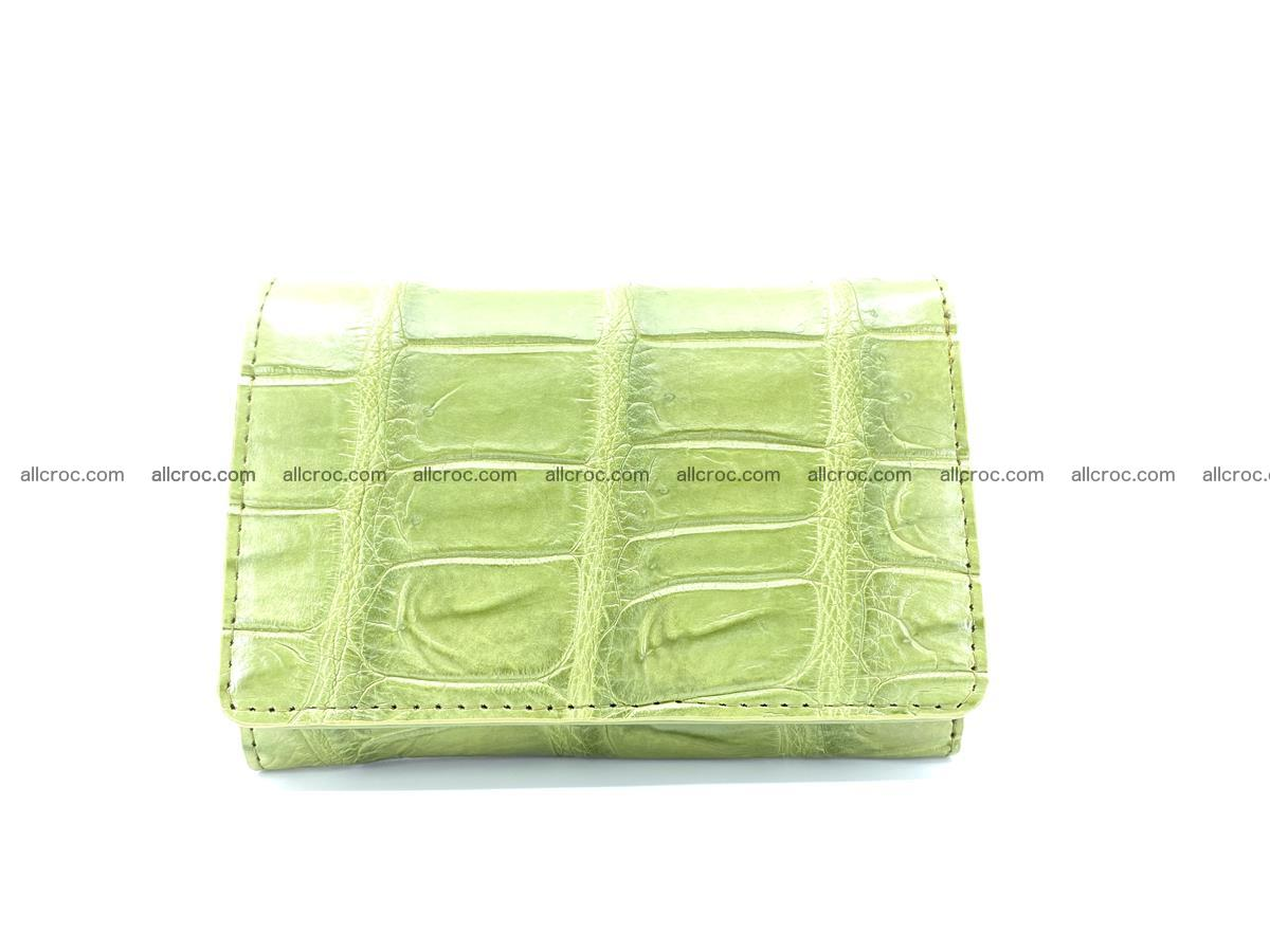 Siamese crocodile skin wallet for women belly part, trifold medium size 437 Foto 0
