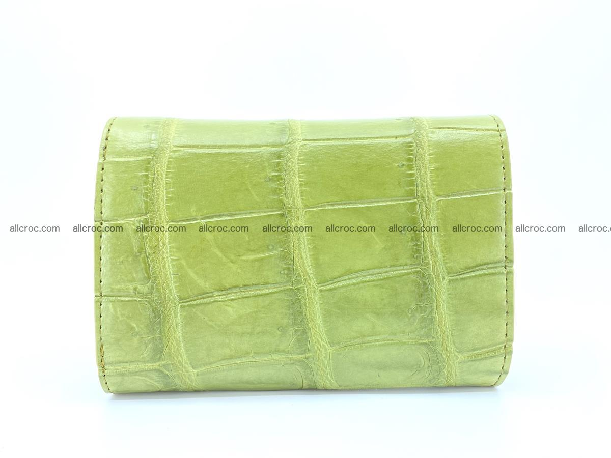 Siamese crocodile skin wallet for women belly part, trifold medium size 437 Foto 1