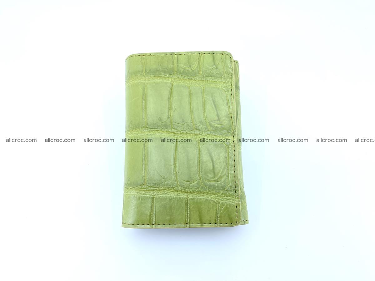 Siamese crocodile skin wallet for women belly part, trifold medium size 437 Foto 2