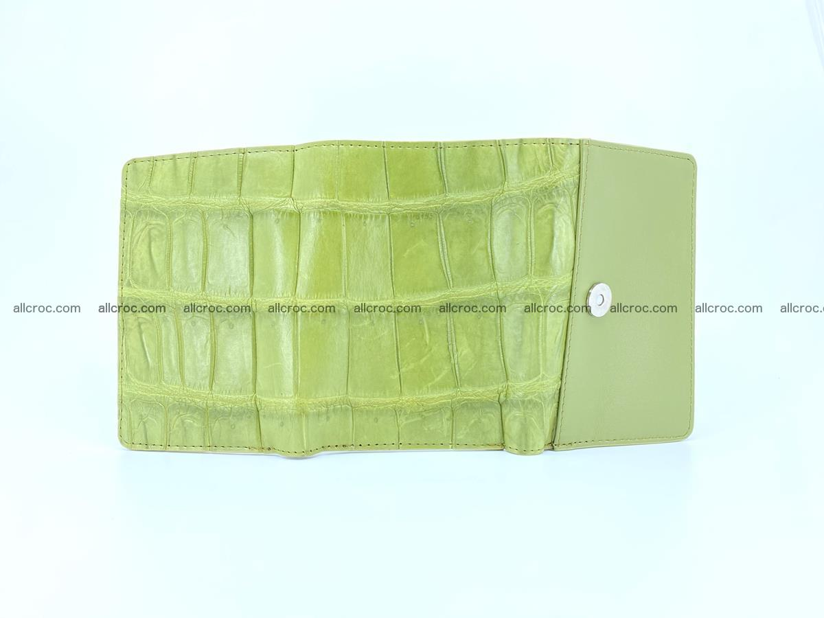 Siamese crocodile skin wallet for women belly part, trifold medium size 437 Foto 6