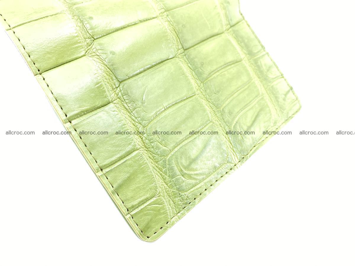 Siamese crocodile skin wallet for women belly part, trifold medium size 437 Foto 7