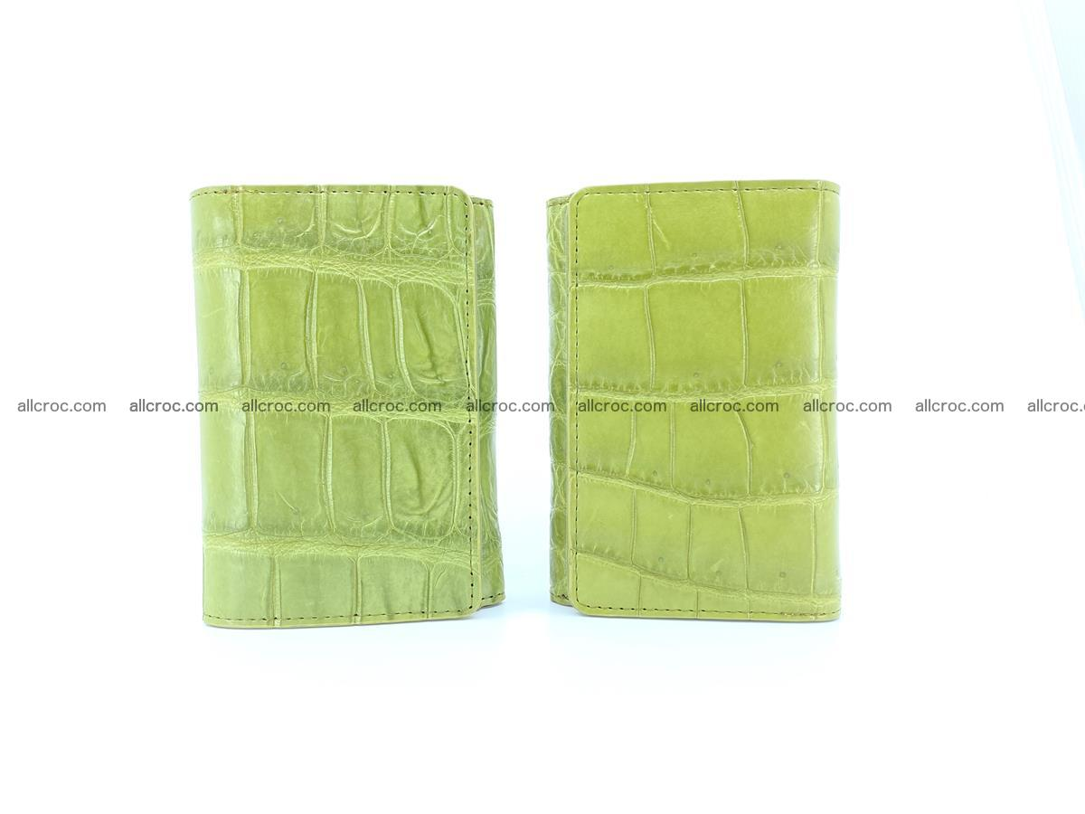 Siamese crocodile skin wallet for women belly part, trifold medium size 437 Foto 11