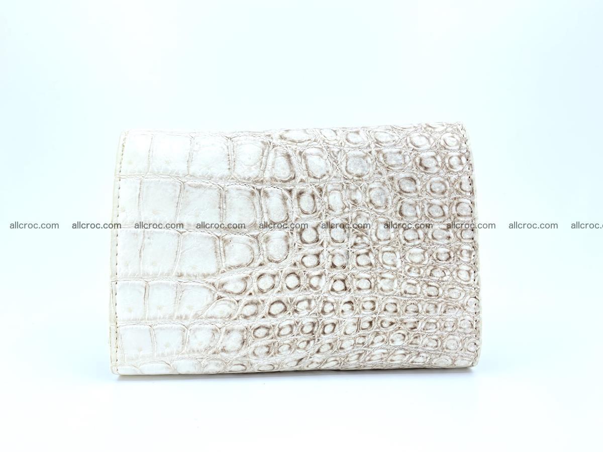 Siamese crocodile skin wallet for women belly part, trifold medium size 441 Foto 1