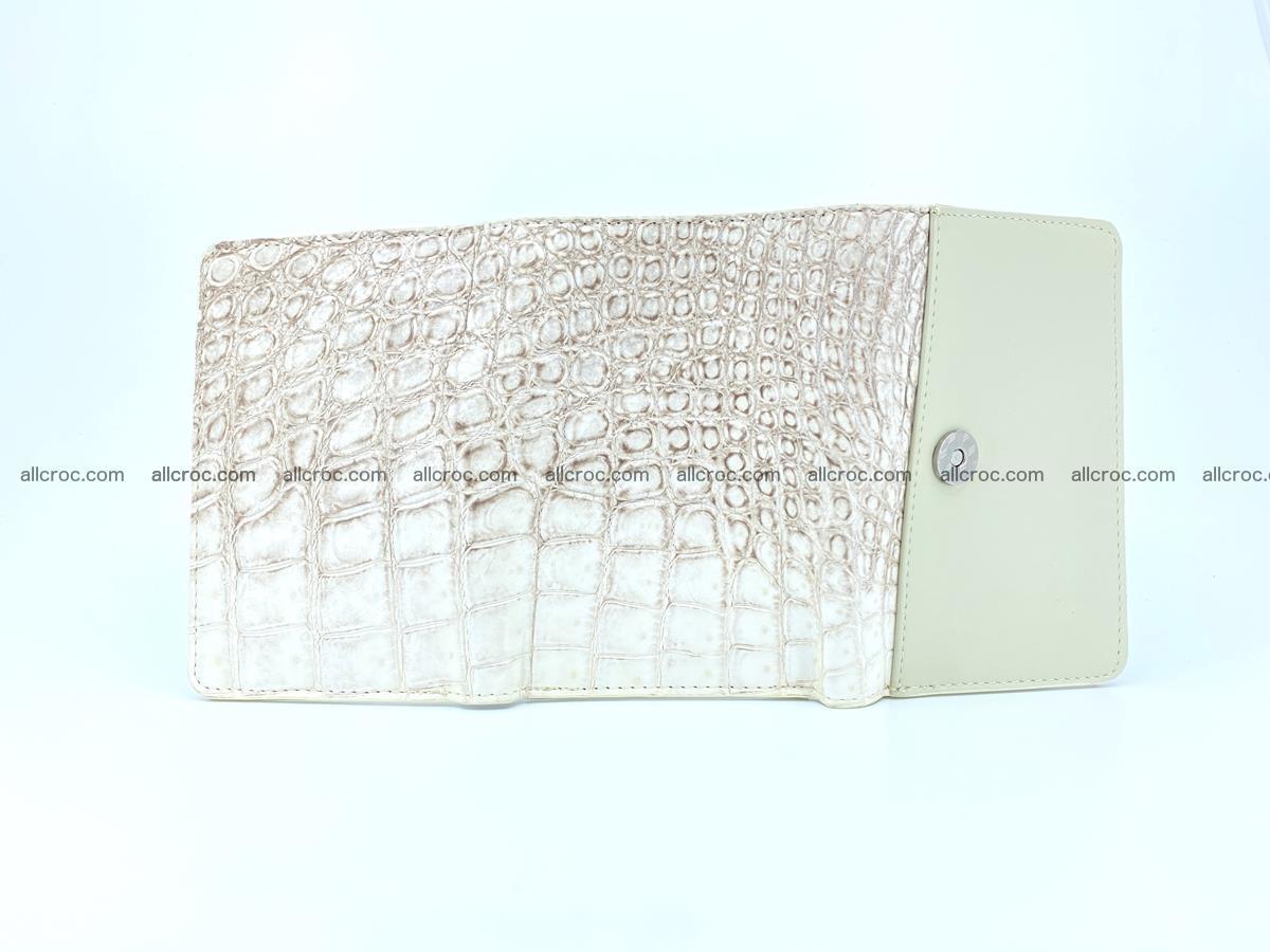 Siamese crocodile skin wallet for women belly part, trifold medium size 441 Foto 9