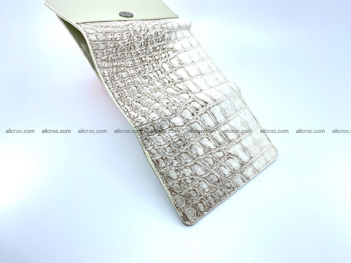 Siamese crocodile skin wallet for women belly part, trifold medium size 441 Foto 7