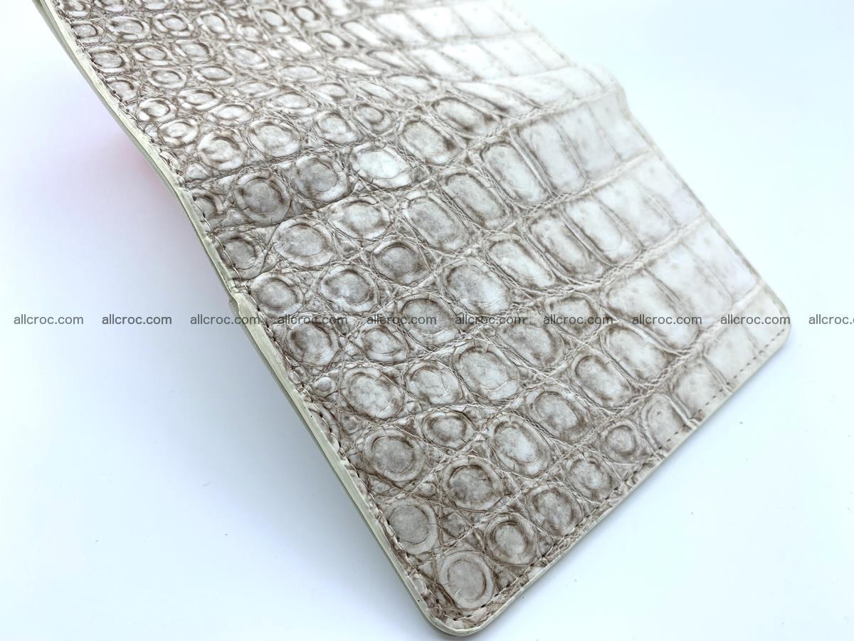Siamese crocodile skin wallet for women belly part, trifold medium size 441 Foto 8