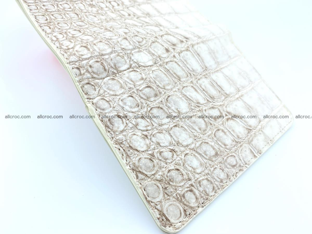 Siamese crocodile skin wallet for women belly part, trifold medium size 441 Foto 6