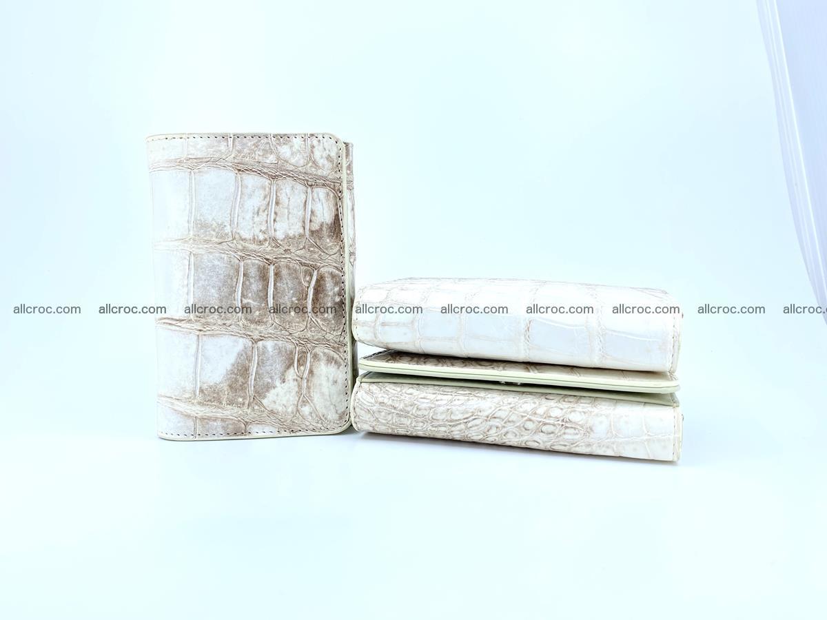 Siamese crocodile skin wallet for women belly part, trifold medium size 441 Foto 12