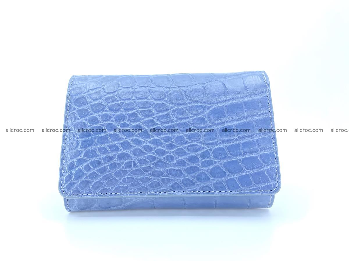 Siamese crocodile skin wallet for women belly part, trifold medium size 440 Foto 0
