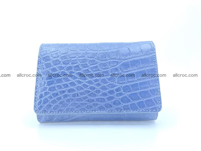 Siamese crocodile skin wallet for women belly part, trifold medium size 440