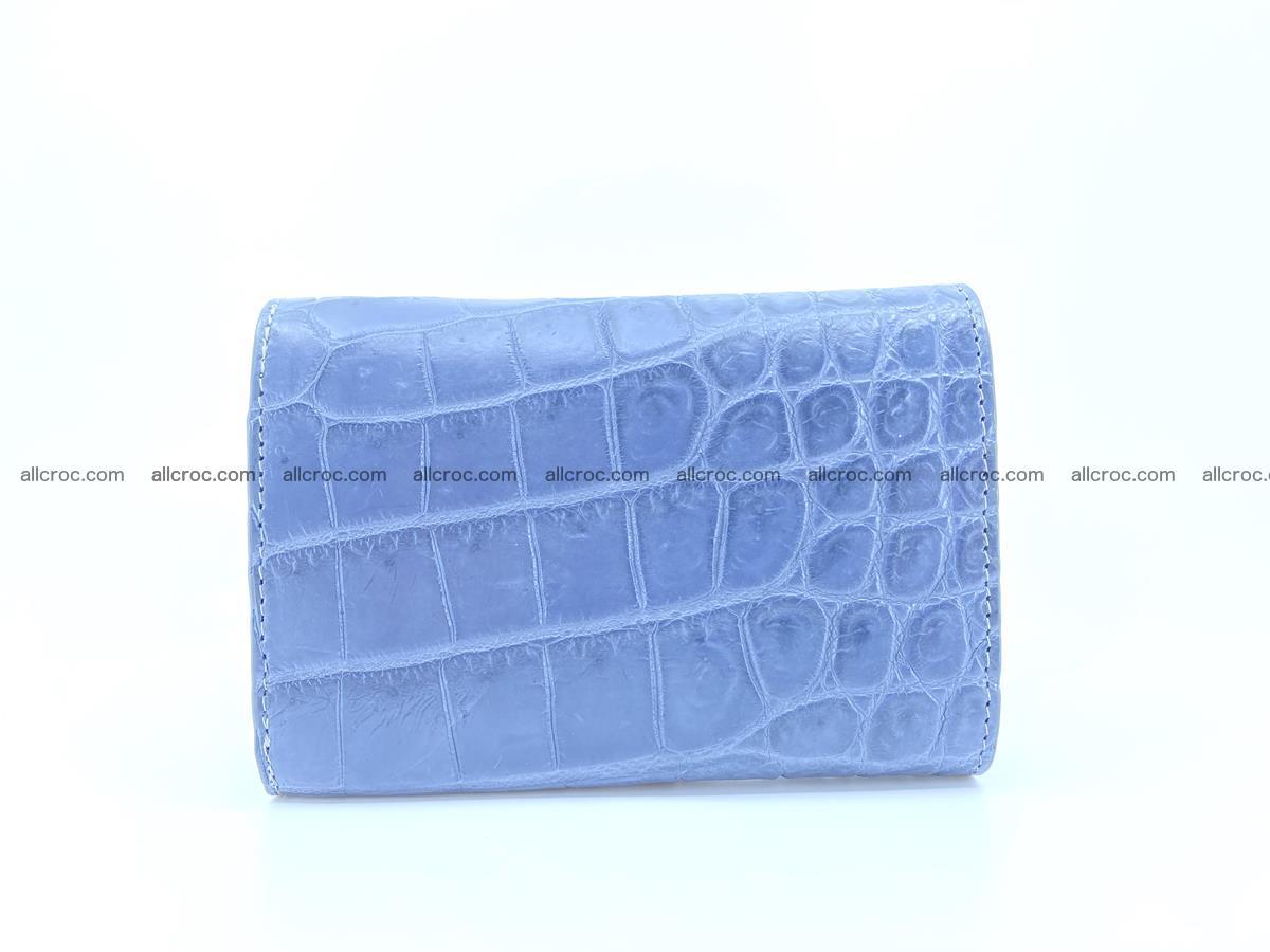 Siamese crocodile skin wallet for women belly part, trifold medium size 440 Foto 1