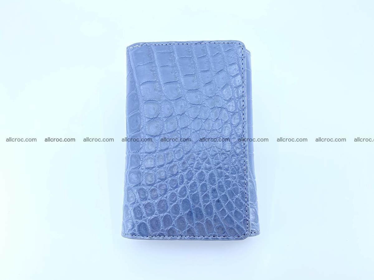 Siamese crocodile skin wallet for women belly part, trifold medium size 440 Foto 2