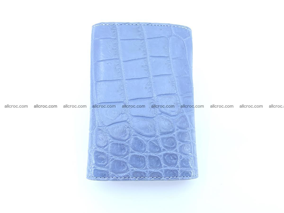 Siamese crocodile skin wallet for women belly part, trifold medium size 440 Foto 3