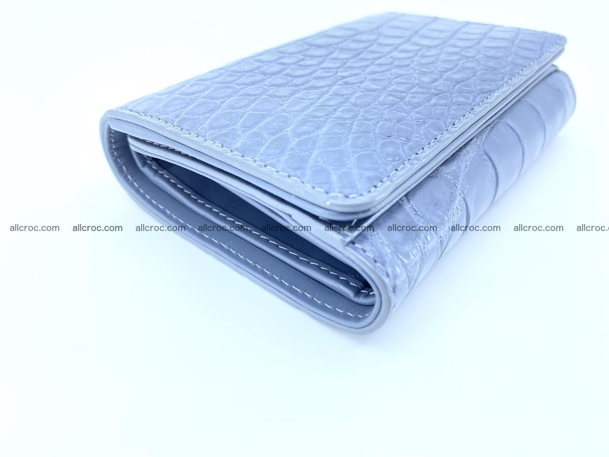 Siamese crocodile skin wallet for women belly part, trifold medium size 440 Foto 6