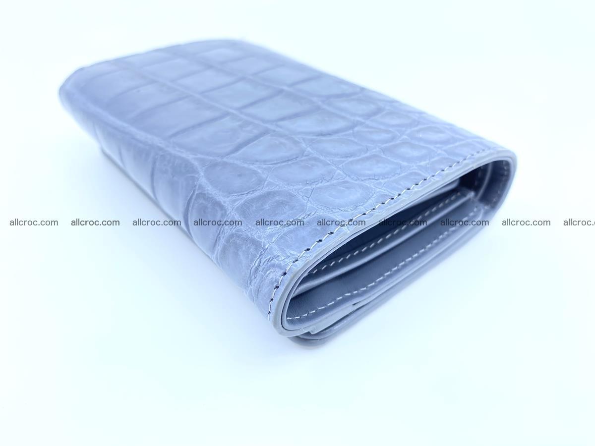 Siamese crocodile skin wallet for women belly part, trifold medium size 440 Foto 4