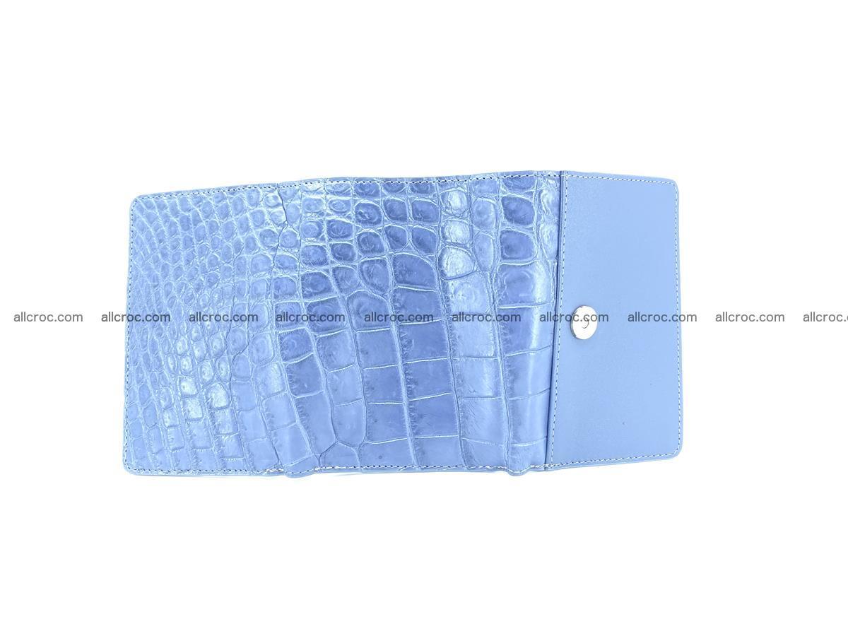 Siamese crocodile skin wallet for women belly part, trifold medium size 440 Foto 5