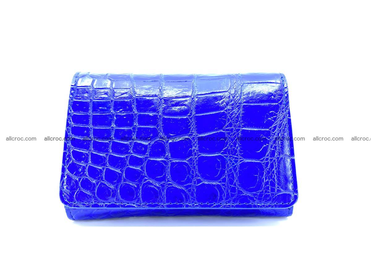 Siamese crocodile skin wallet for women belly part, trifold medium size 438 Foto 0