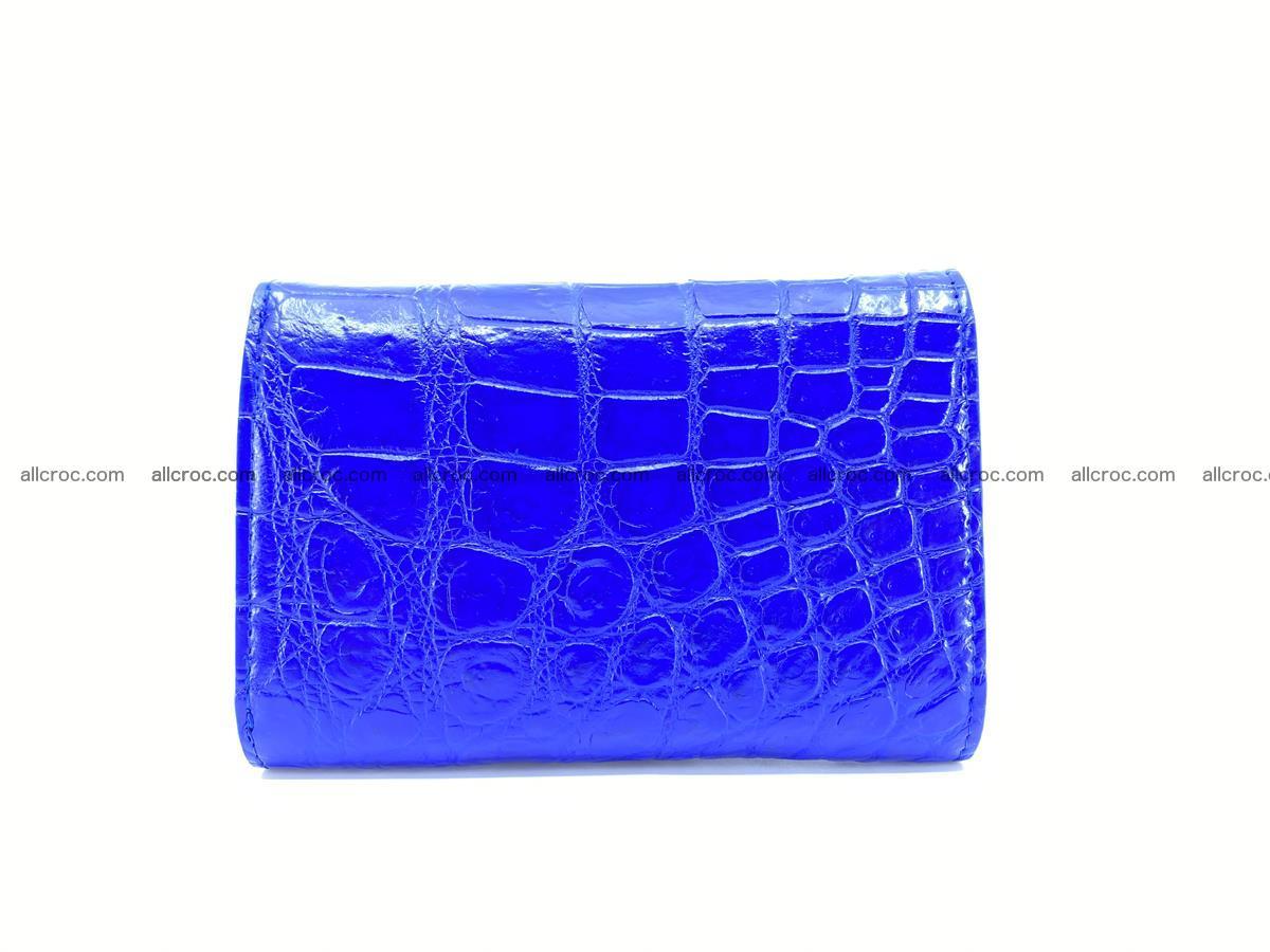 Siamese crocodile skin wallet for women belly part, trifold medium size 438 Foto 1