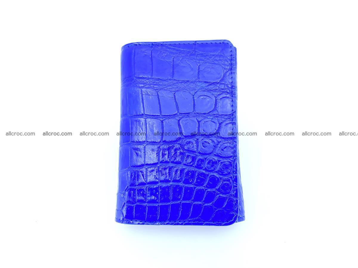 Siamese crocodile skin wallet for women belly part, trifold medium size 438 Foto 2