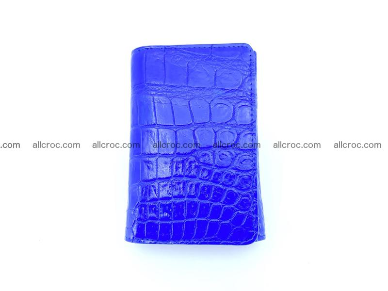 Siamese crocodile skin wallet for women belly part, trifold medium size 438
