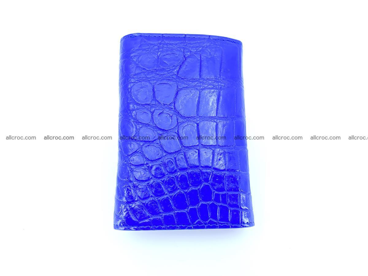 Siamese crocodile skin wallet for women belly part, trifold medium size 438 Foto 3