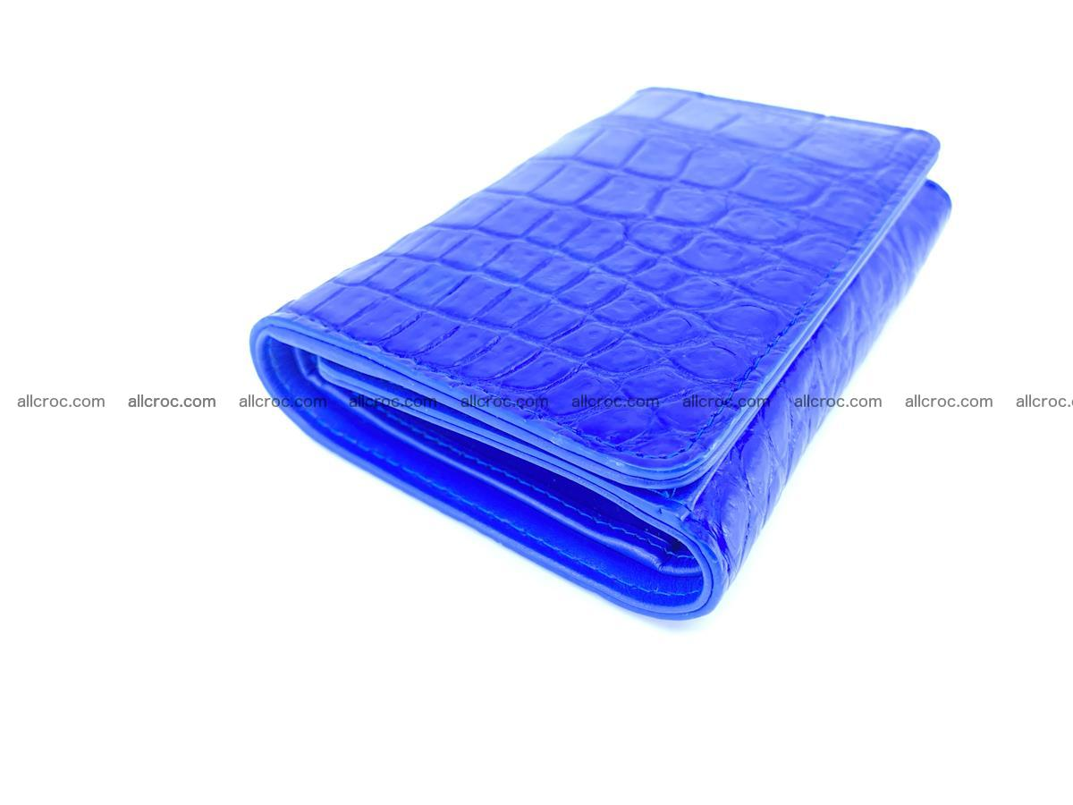 Siamese crocodile skin wallet for women belly part, trifold medium size 438 Foto 4