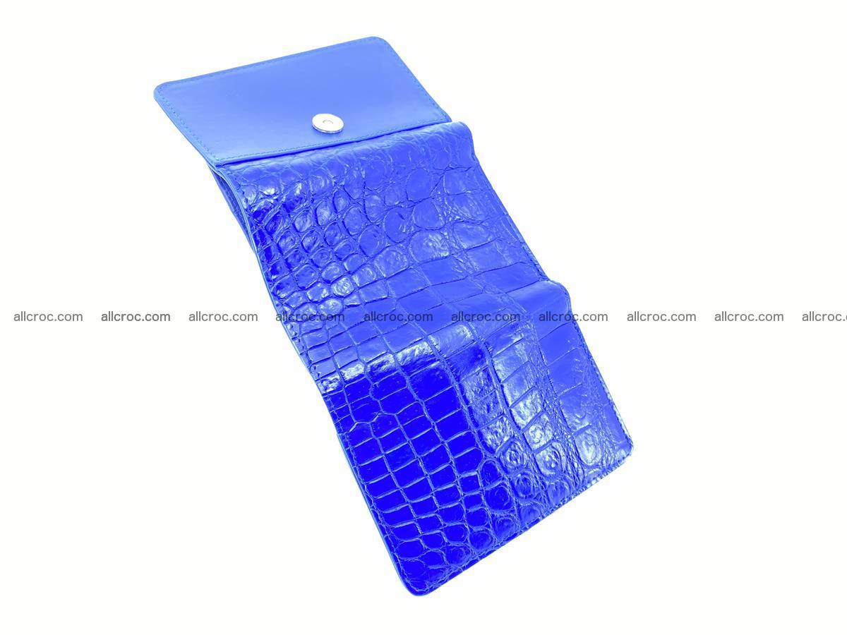 Siamese crocodile skin wallet for women belly part, trifold medium size 438 Foto 8