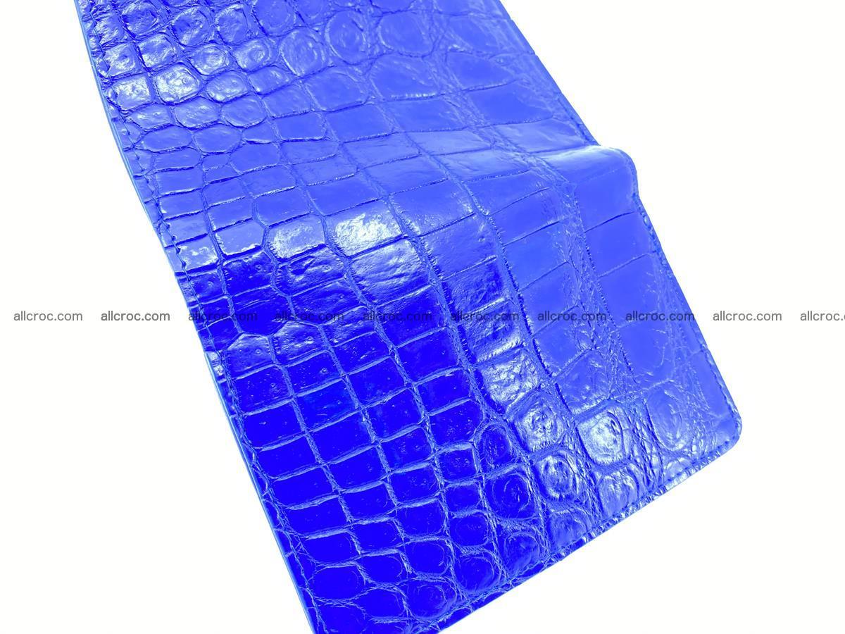 Siamese crocodile skin wallet for women belly part, trifold medium size 438 Foto 9