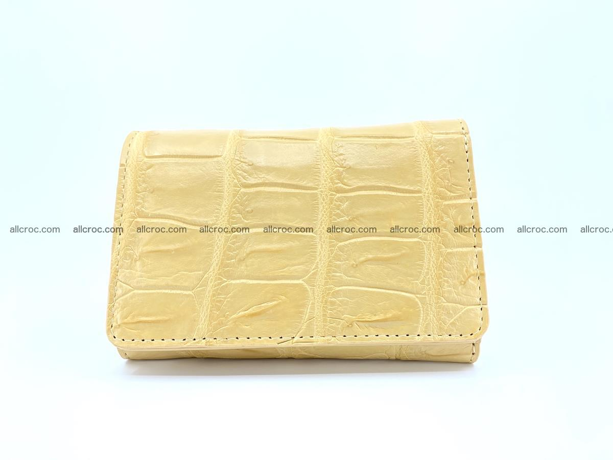 Siamese crocodile skin wallet for women belly part, trifold medium size 439 Foto 0
