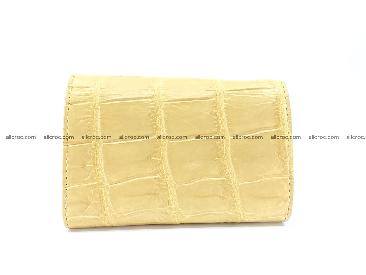 Siamese crocodile skin wallet for women belly part, trifold medium size 439 Foto 1