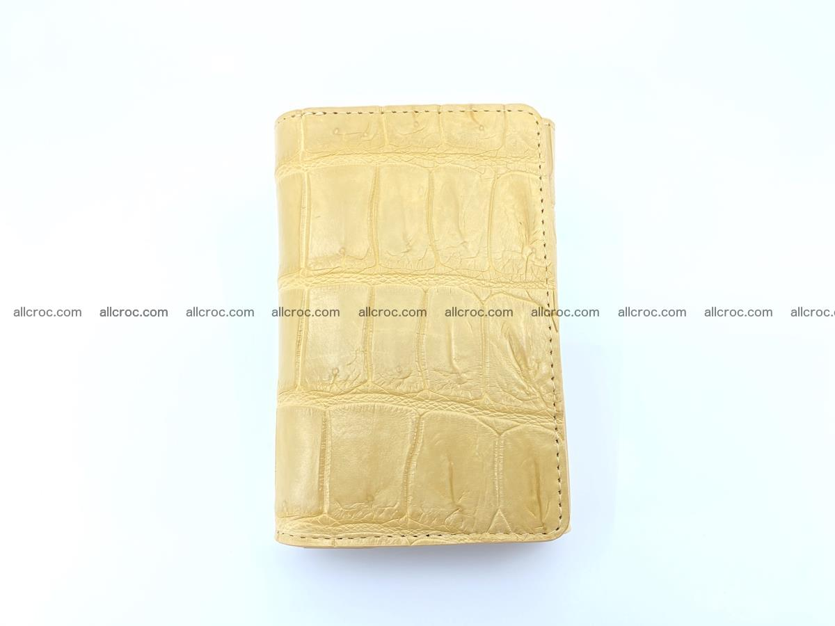 Siamese crocodile skin wallet for women belly part, trifold medium size 439 Foto 2