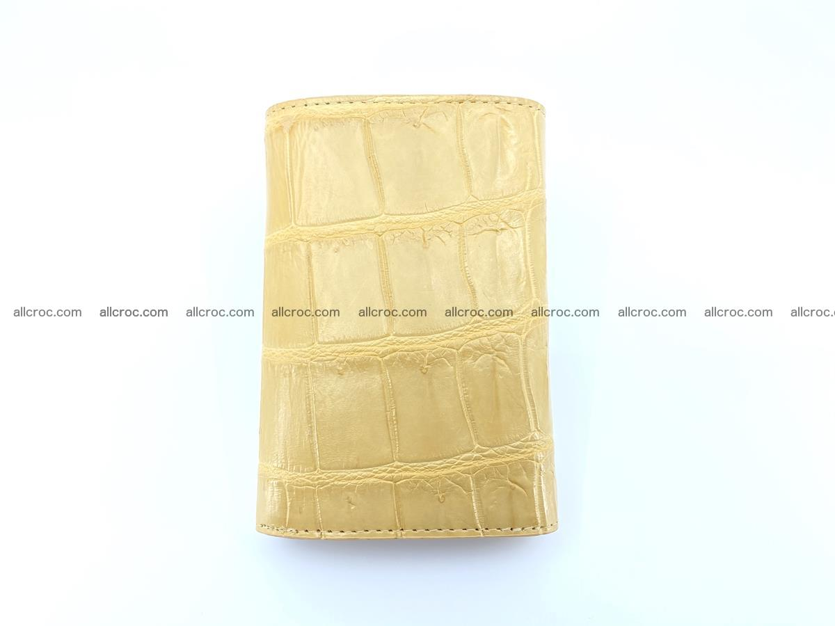 Siamese crocodile skin wallet for women belly part, trifold medium size 439 Foto 3