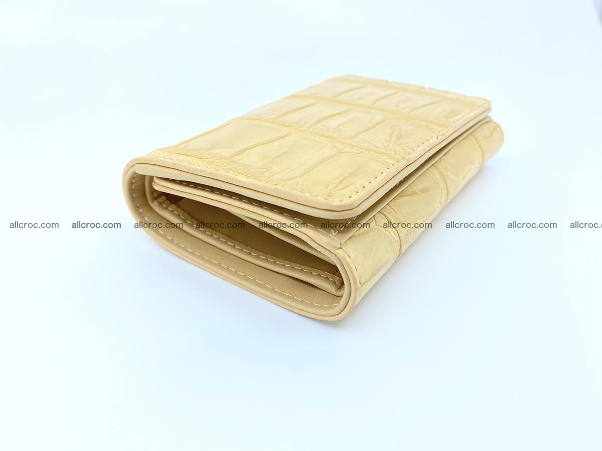 Siamese crocodile skin wallet for women belly part, trifold medium size 439 Foto 4