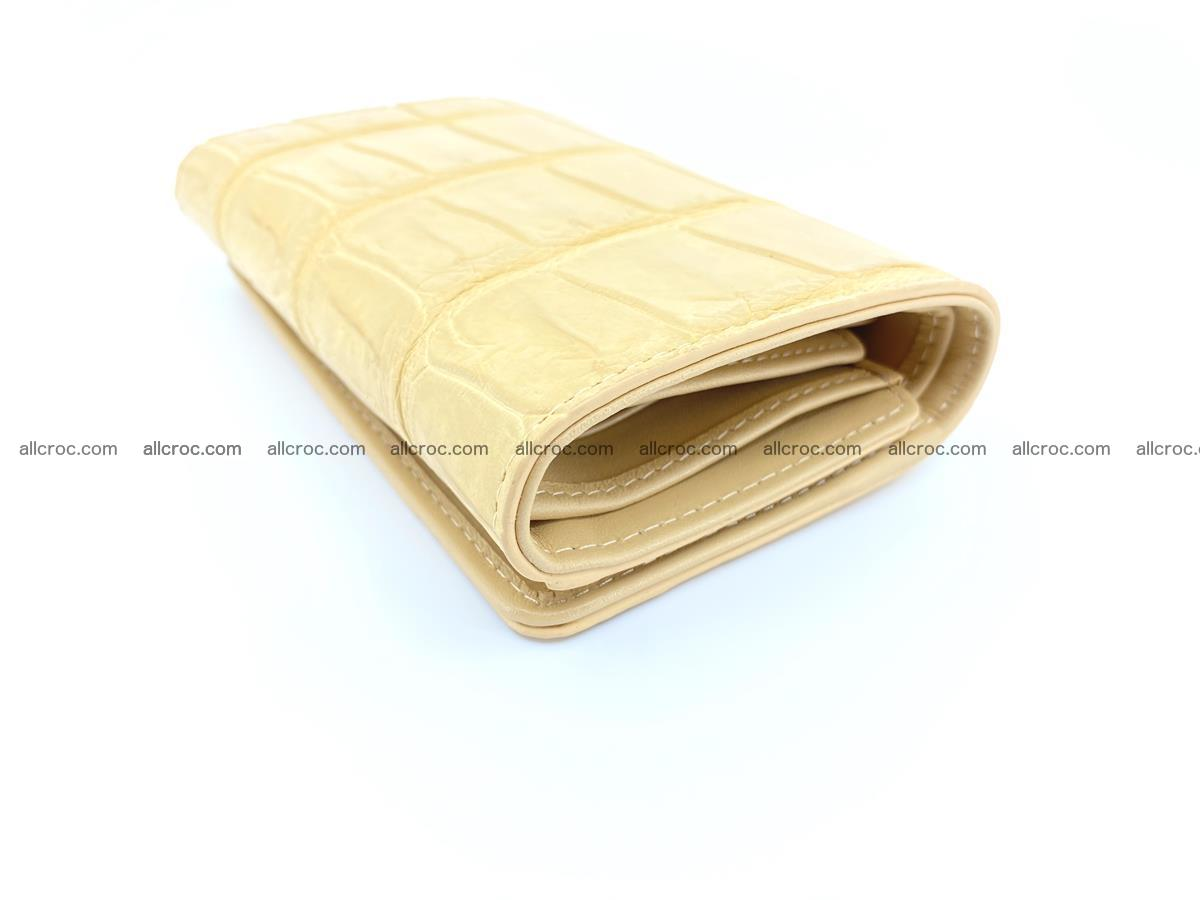 Siamese crocodile skin wallet for women belly part, trifold medium size 439 Foto 5