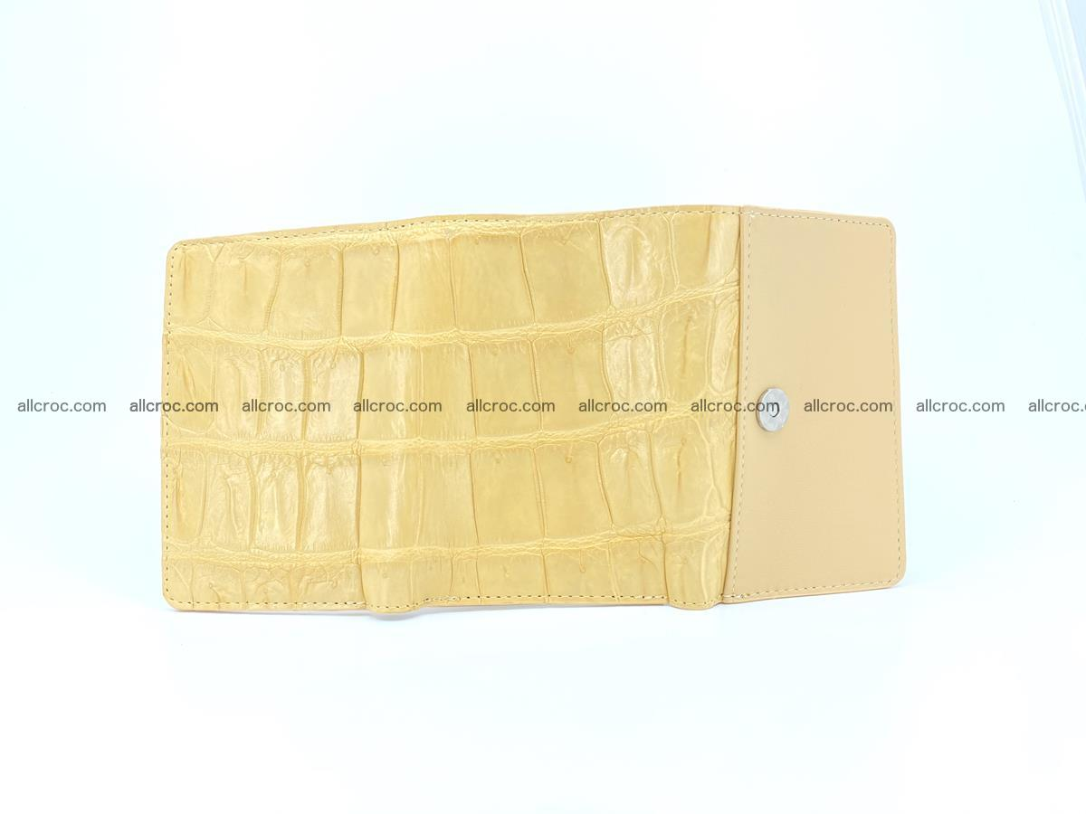 Siamese crocodile skin wallet for women belly part, trifold medium size 439 Foto 10