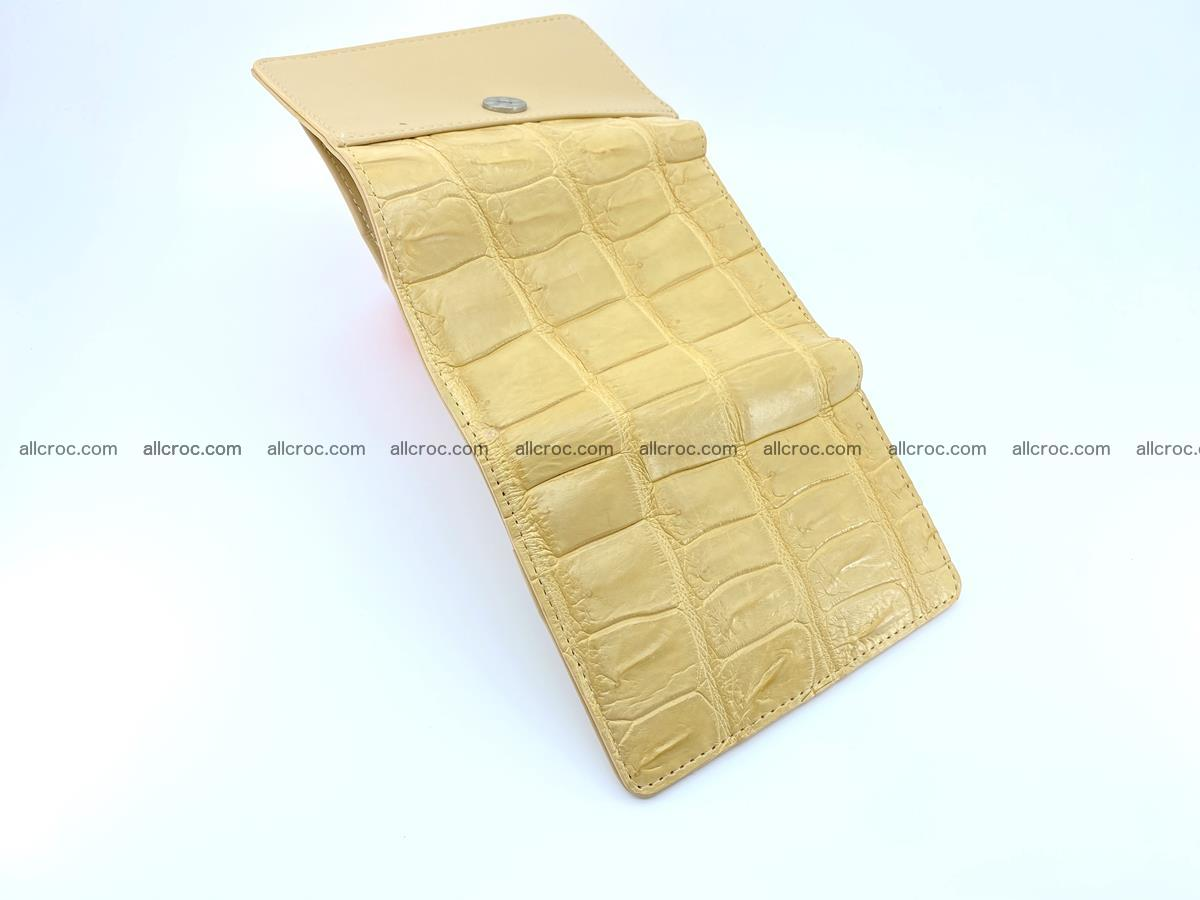 Siamese crocodile skin wallet for women belly part, trifold medium size 439 Foto 8