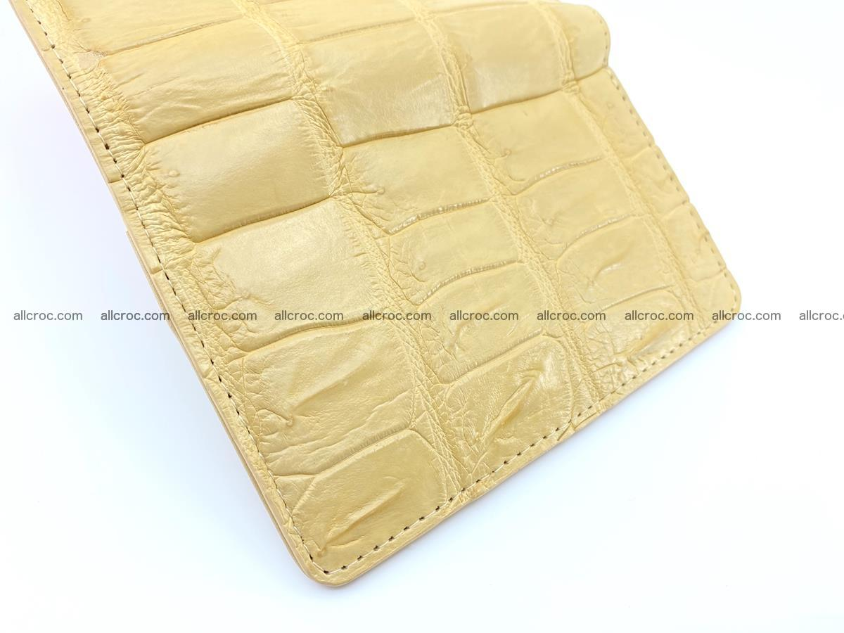 Siamese crocodile skin wallet for women belly part, trifold medium size 439 Foto 9