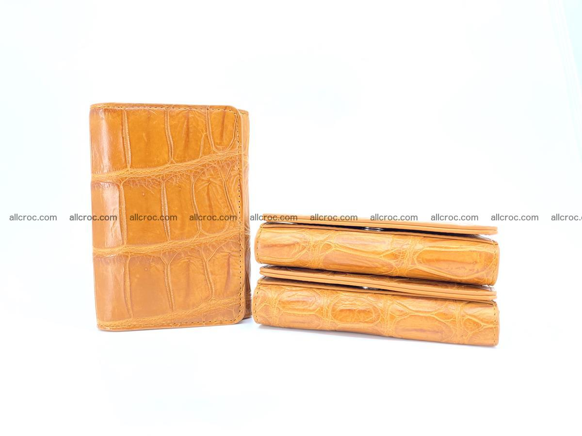 Siamese crocodile skin wallet for women belly part, trifold medium size 442 Foto 11