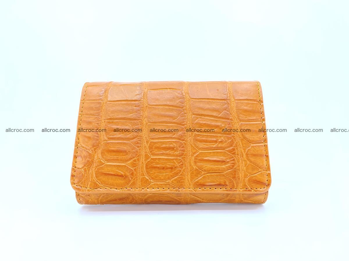 Siamese crocodile skin wallet for women belly part, trifold medium size 442 Foto 0